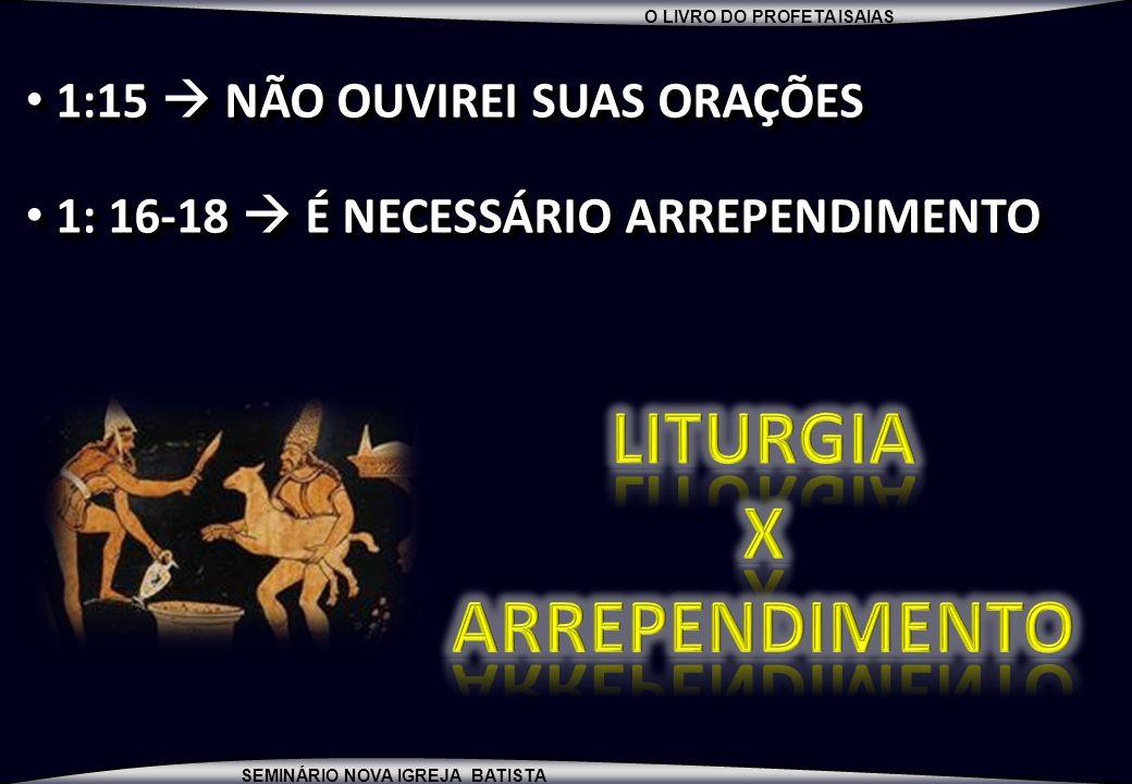 LITURGIA X ARREPENDIMENTO