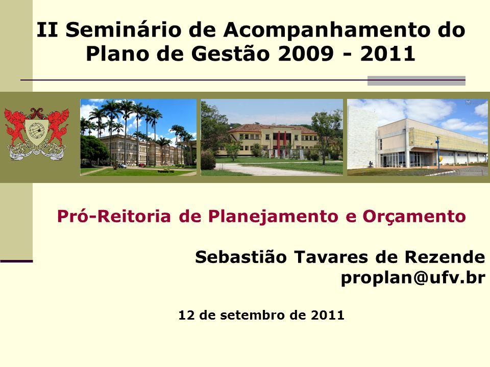 II Seminário de Acompanhamento do Plano de Gestão 2009 - 2011