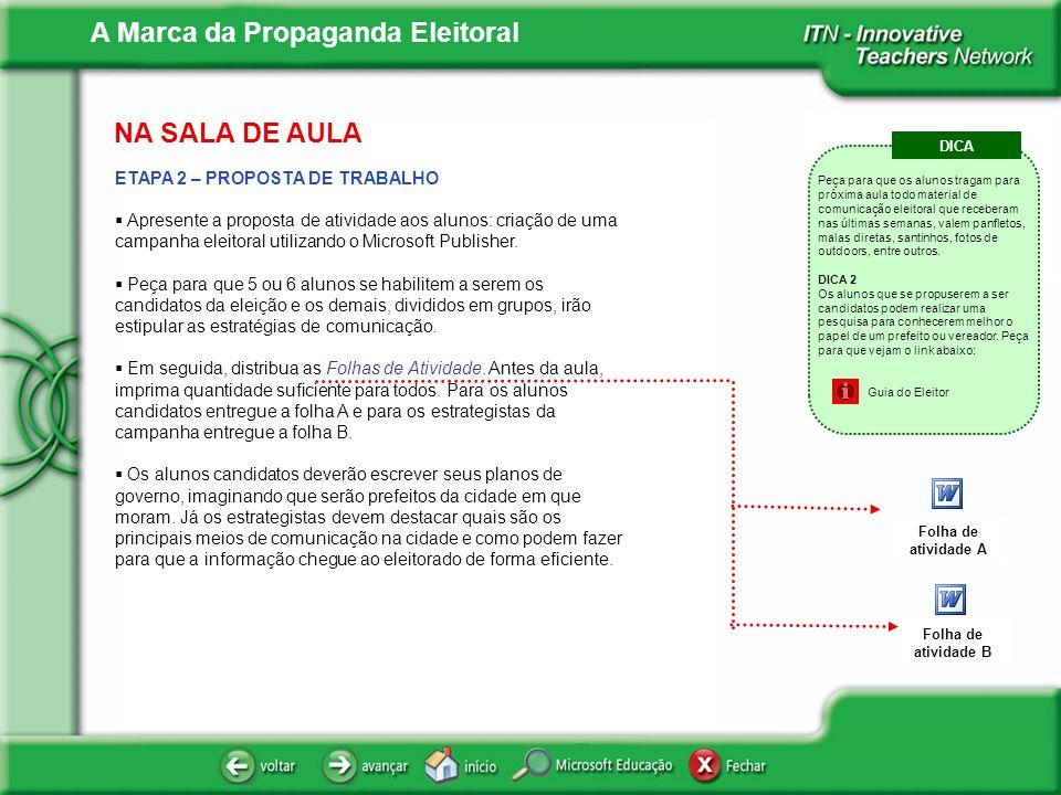NA SALA DE AULA ETAPA 2 – PROPOSTA DE TRABALHO