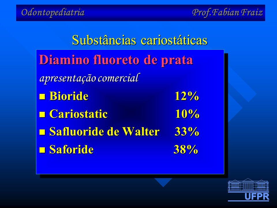 Substâncias cariostáticas