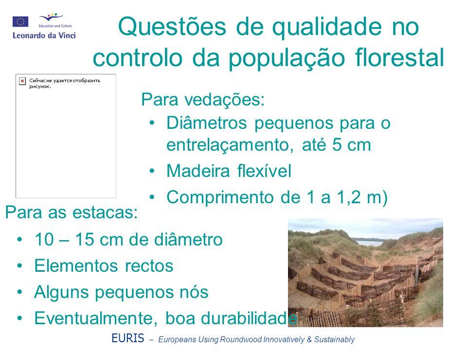 Questões de qualidade no controlo da população florestal