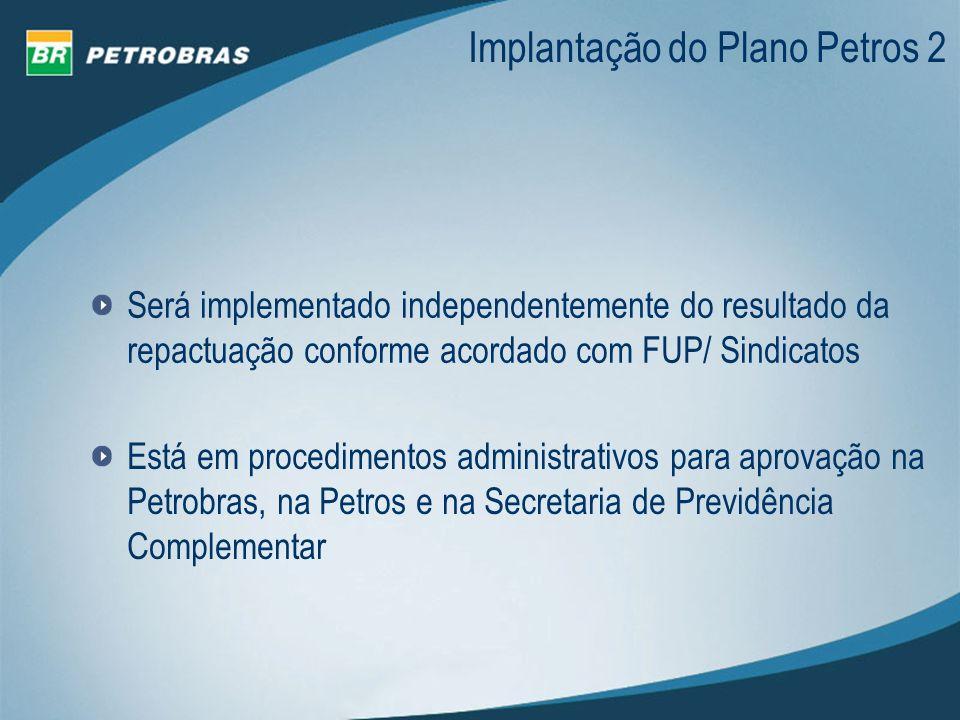 Implantação do Plano Petros 2