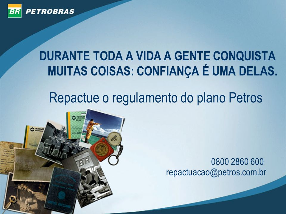 Repactue o regulamento do plano Petros