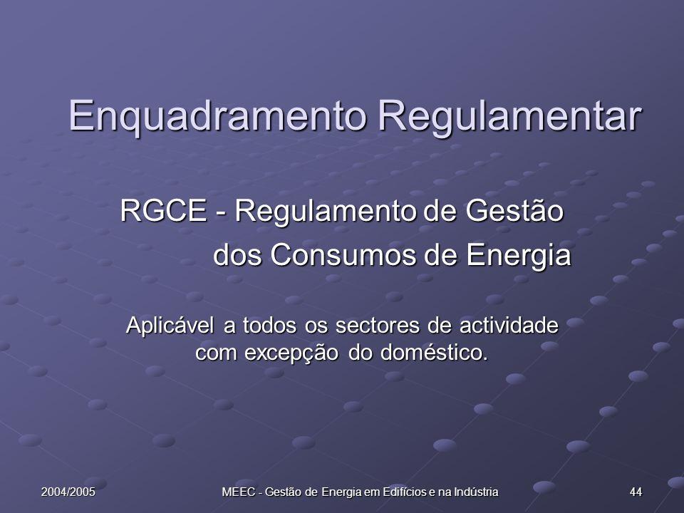 Enquadramento Regulamentar