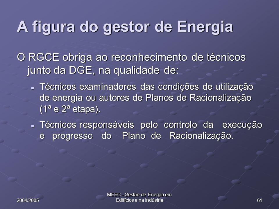 A figura do gestor de Energia
