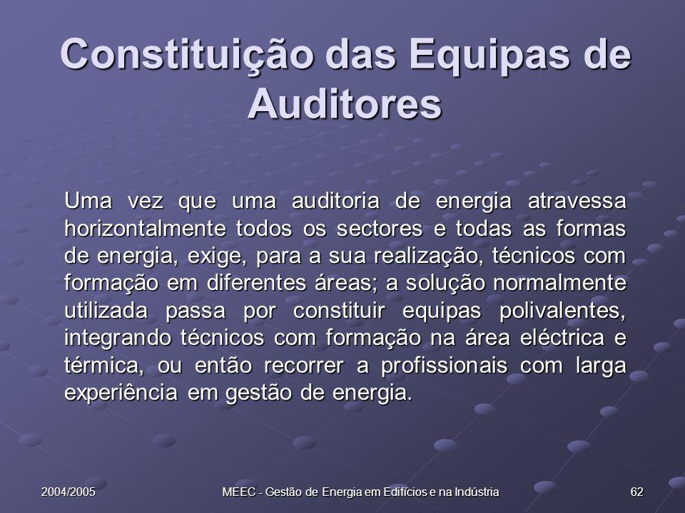 Constituição das Equipas de Auditores