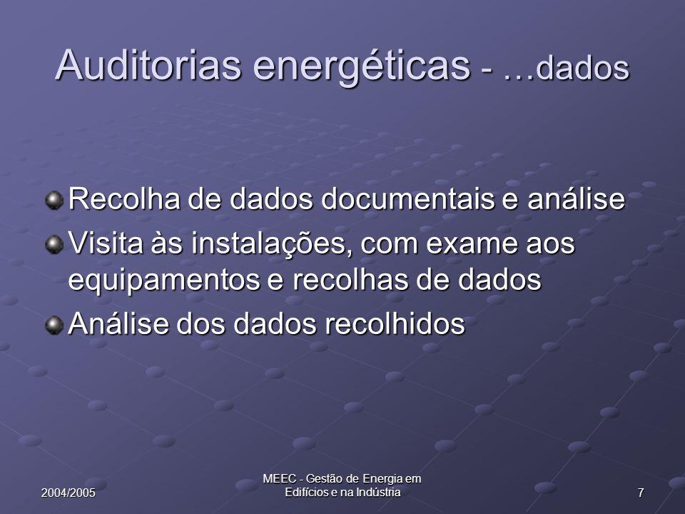Auditorias energéticas - …dados