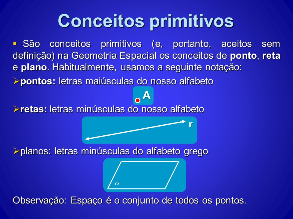 Conceitos primitivos A