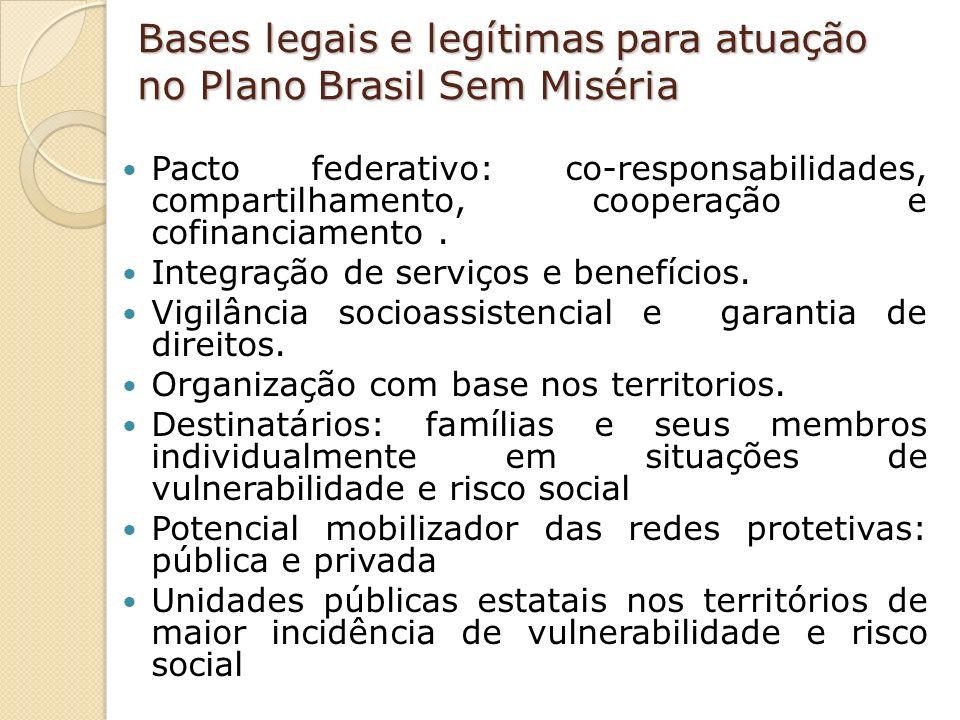 Bases legais e legítimas para atuação no Plano Brasil Sem Miséria