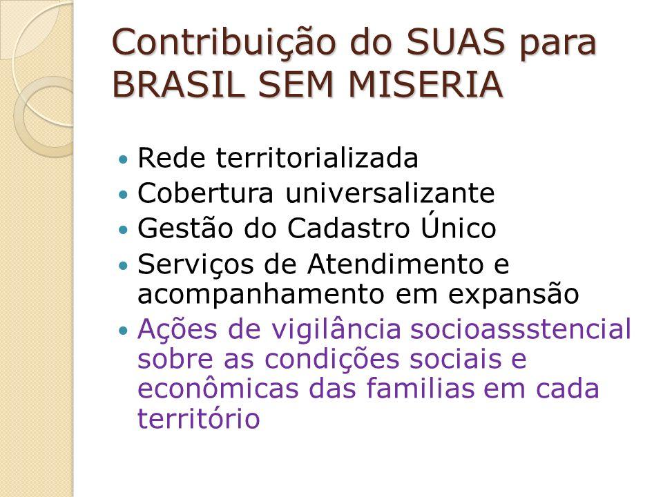 Contribuição do SUAS para BRASIL SEM MISERIA