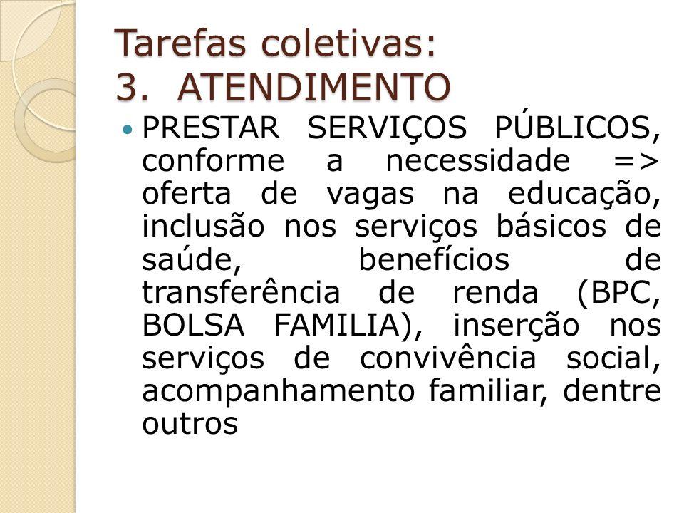 Tarefas coletivas: 3. ATENDIMENTO