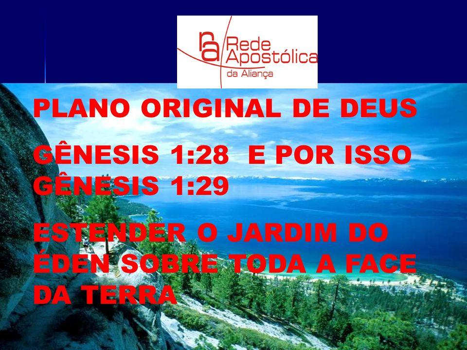 PLANO ORIGINAL DE DEUS GÊNESIS 1:28 E POR ISSO GÊNESIS 1:29.