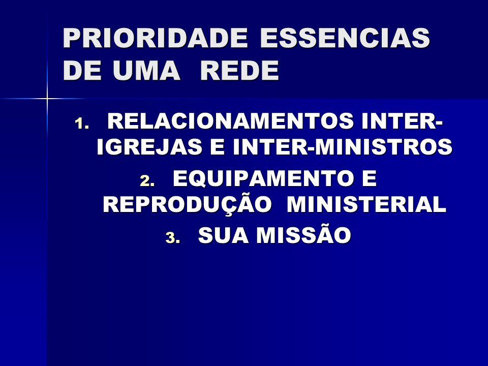 PRIORIDADE ESSENCIAS DE UMA REDE