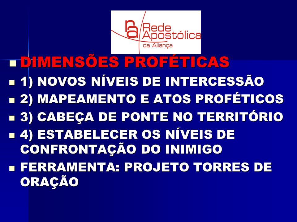 DIMENSÕES PROFÉTICAS 1) NOVOS NÍVEIS DE INTERCESSÃO
