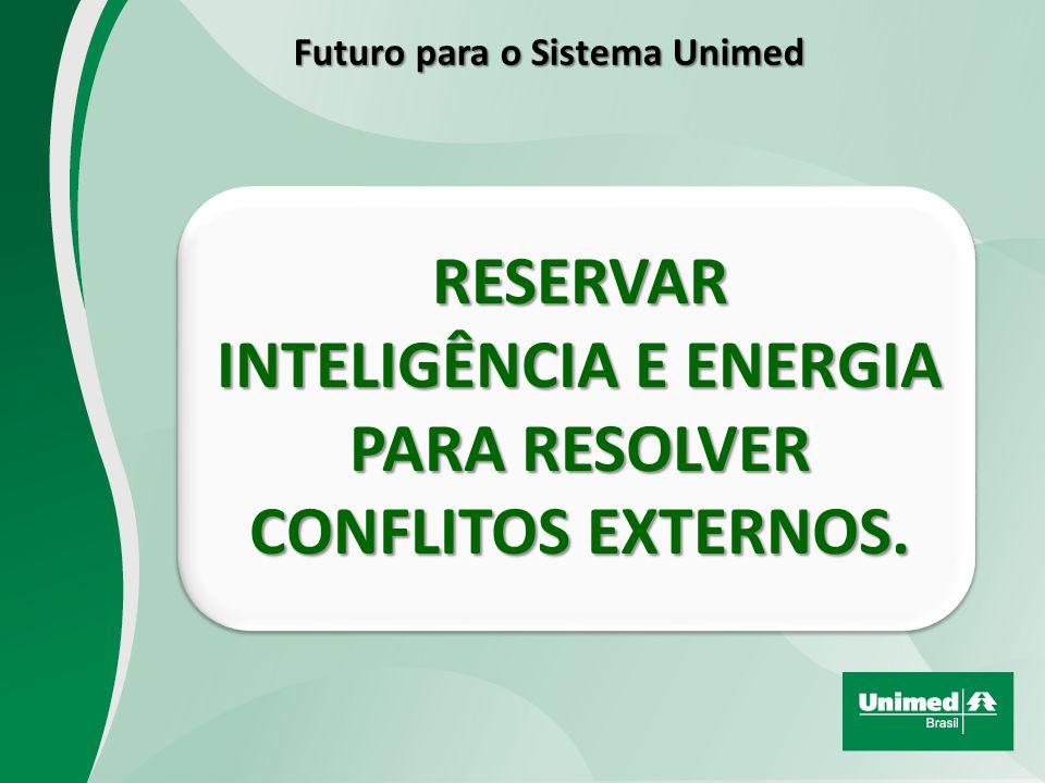 RESERVAR INTELIGÊNCIA E ENERGIA PARA RESOLVER CONFLITOS EXTERNOS.