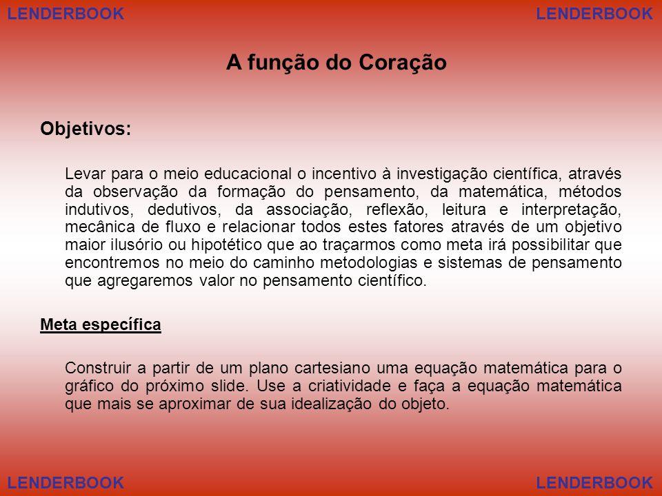 A função do Coração Objetivos: LENDERBOOK LENDERBOOK