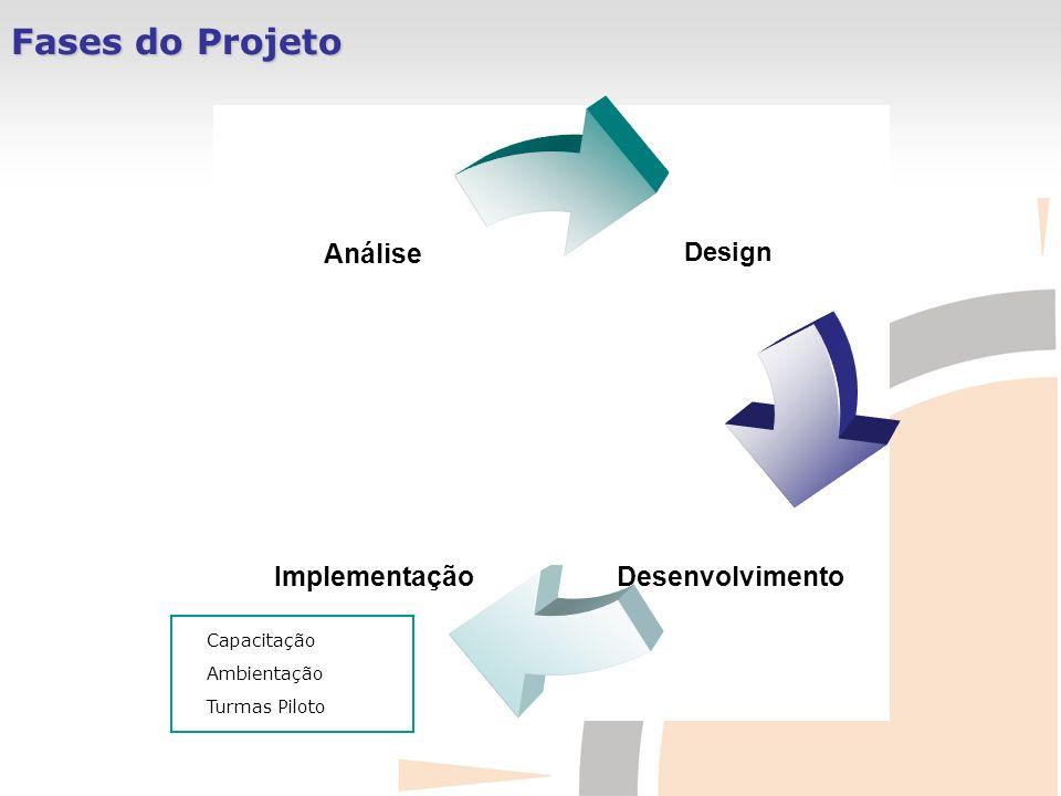 Fases do Projeto Capacitação Ambientação Turmas Piloto