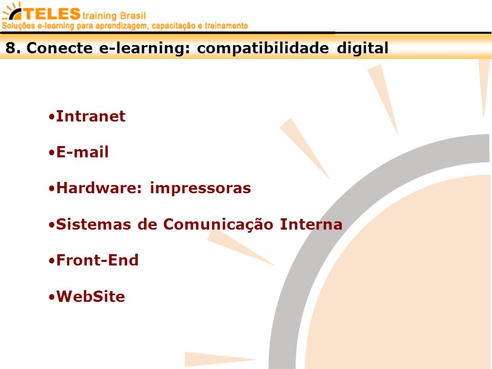 8. Conecte e-learning: compatibilidade digital