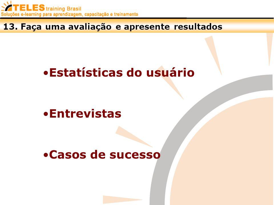 Estatísticas do usuário