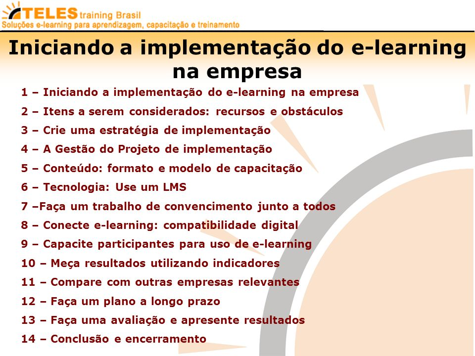Iniciando a implementação do e-learning na empresa