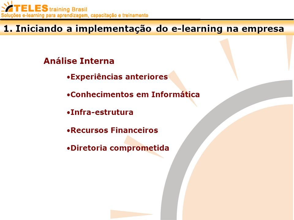 1. Iniciando a implementação do e-learning na empresa