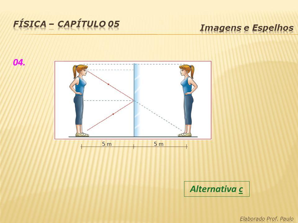 04. Alternativa c Física – capítulo 05 Imagens e Espelhos 5 m 5 m