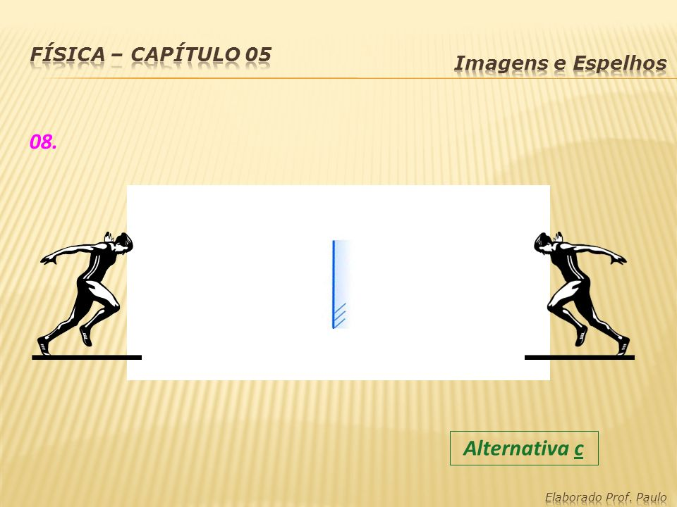 08. Alternativa c Física – capítulo 05 Imagens e Espelhos