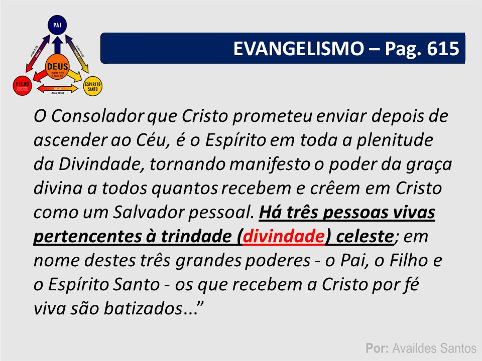 EVANGELISMO – Pag. 615