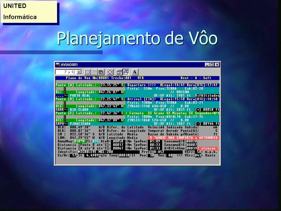 UNITED Informática Planejamento de Vôo
