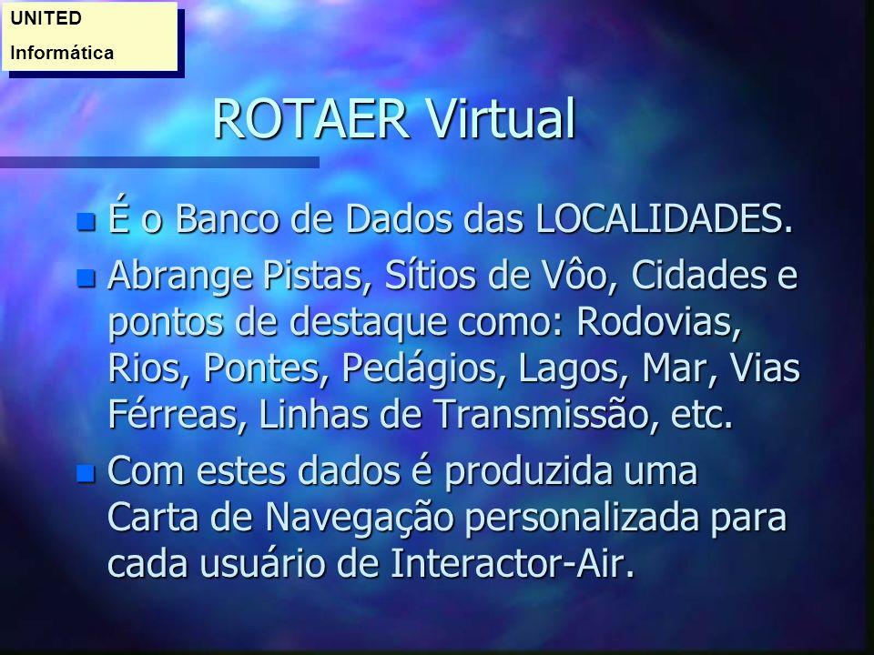 ROTAER Virtual É o Banco de Dados das LOCALIDADES.
