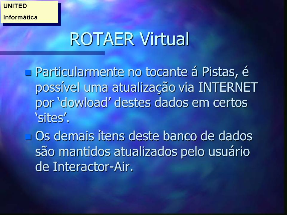 UNITED Informática. ROTAER Virtual.