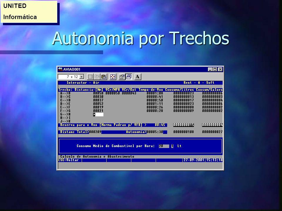UNITED Informática Autonomia por Trechos