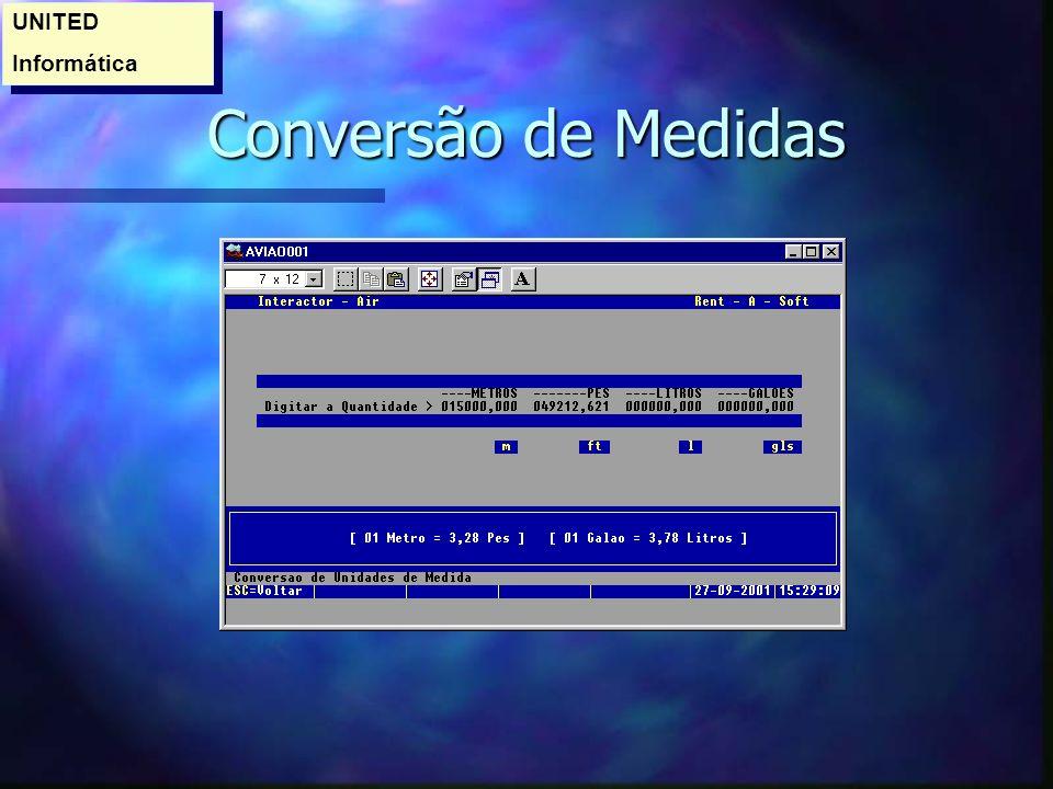 UNITED Informática Conversão de Medidas