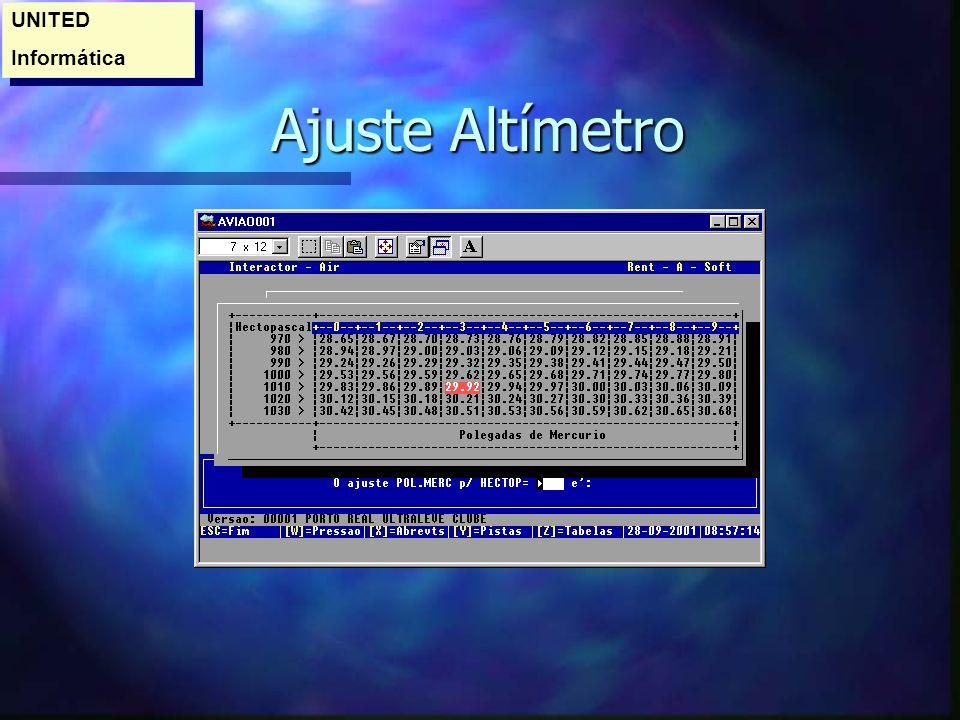 UNITED Informática Ajuste Altímetro