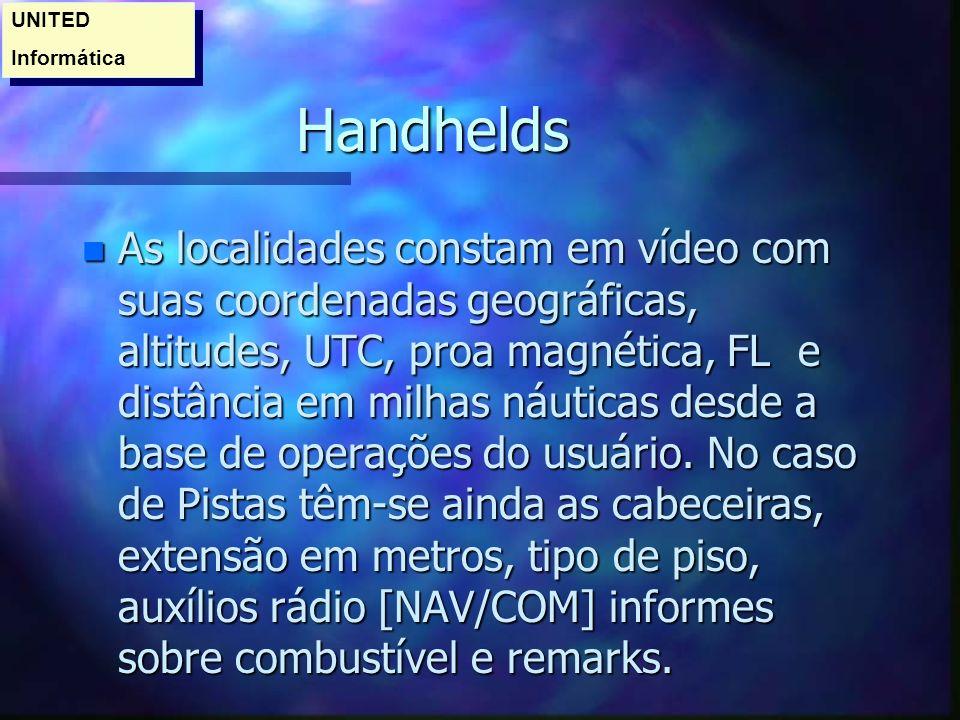 UNITED Informática. Handhelds.