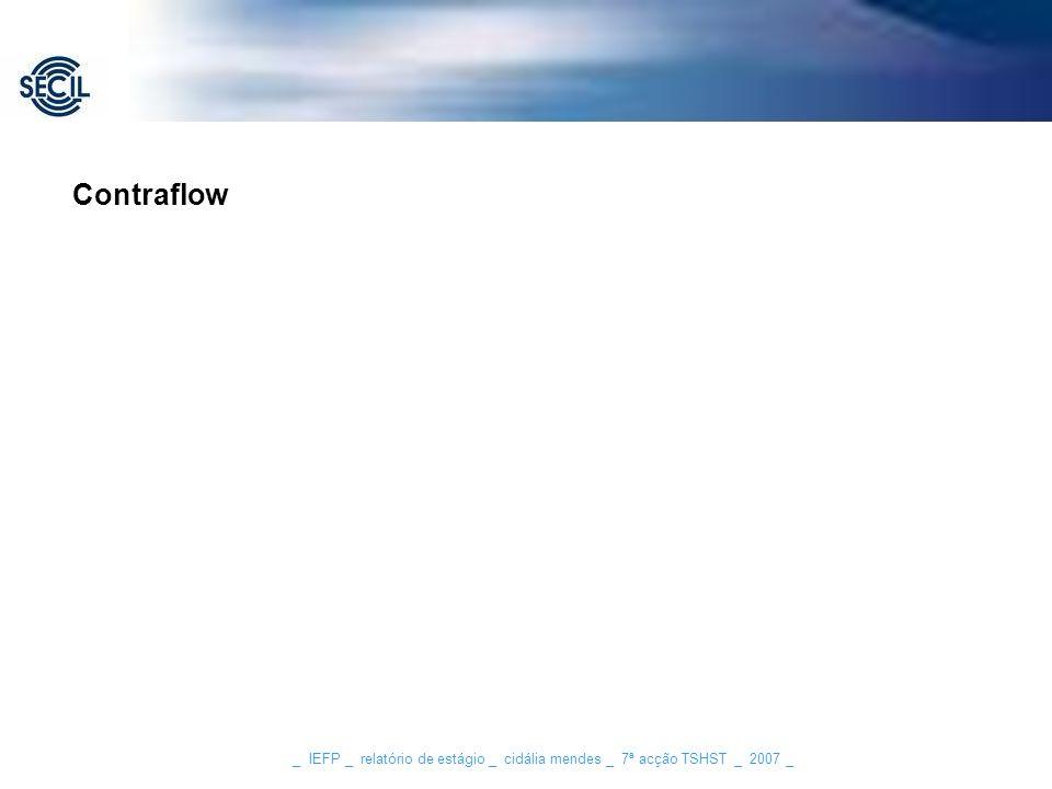 Contraflow _ IEFP _ relatório de estágio _ cidália mendes _ 7ª acção TSHST _ 2007 _