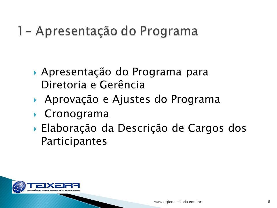 1- Apresentação do Programa