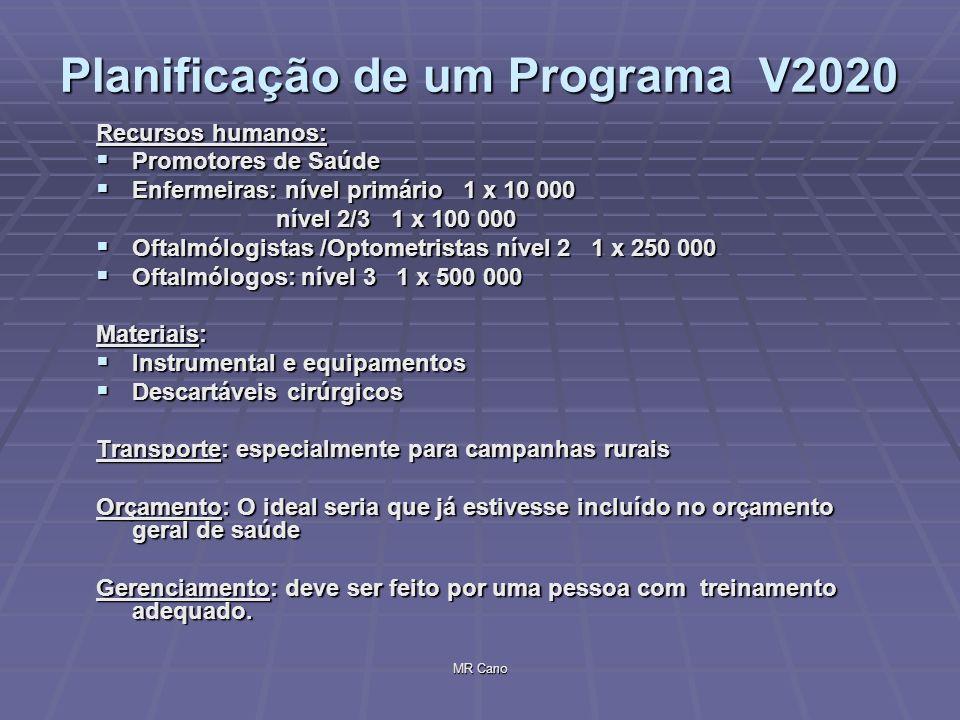 Planificação de um Programa V2020