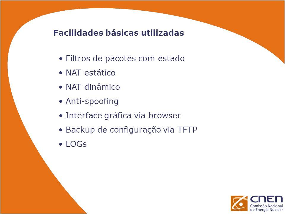 Facilidades básicas utilizadas