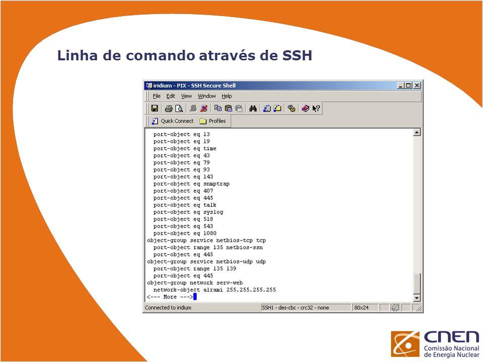 Linha de comando através de SSH
