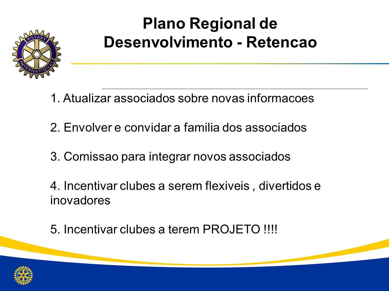 Plano Regional de Desenvolvimento - Retencao
