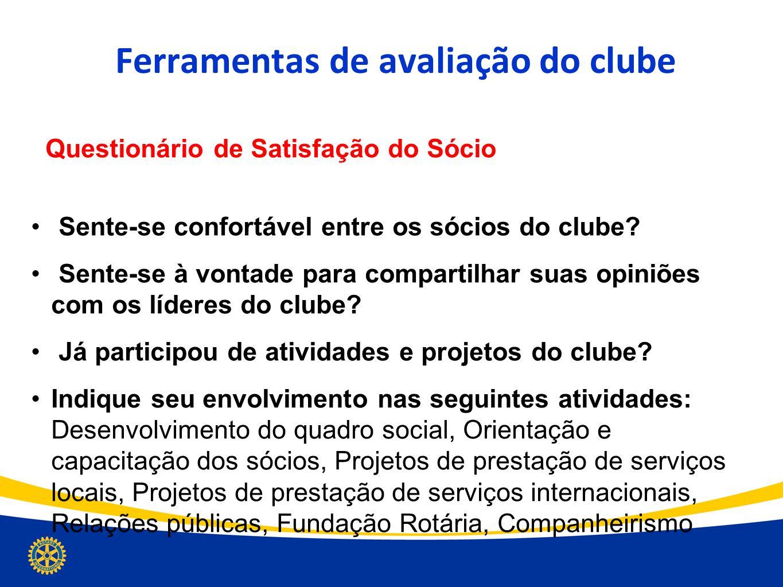 Ferramentas de avaliação do clube
