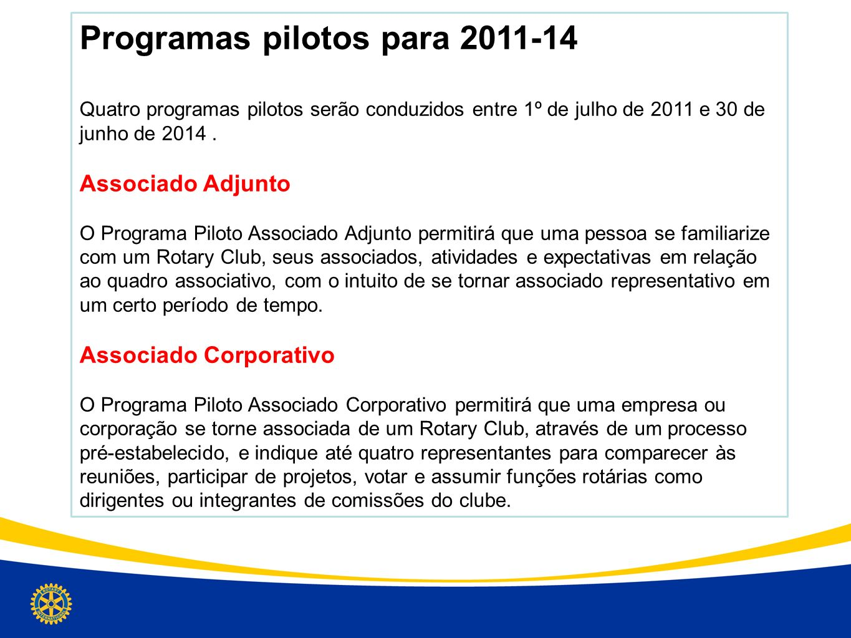 Programas pilotos para 2011-14