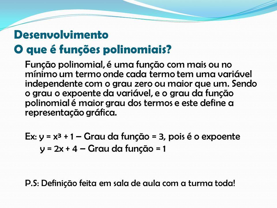 Desenvolvimento O que é funções polinomiais