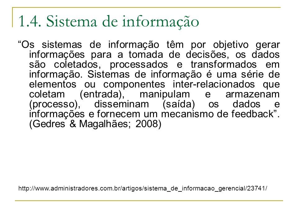 1.4. Sistema de informação