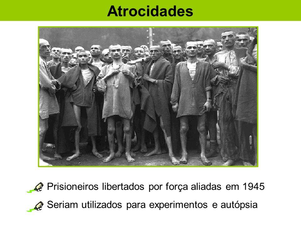 Atrocidades Prisioneiros libertados por força aliadas em 1945