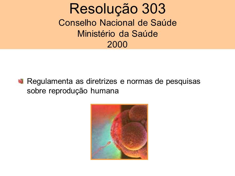 Resolução 303 Conselho Nacional de Saúde Ministério da Saúde 2000