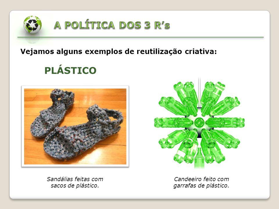 A POLÍTICA DOS 3 R's PLÁSTICO