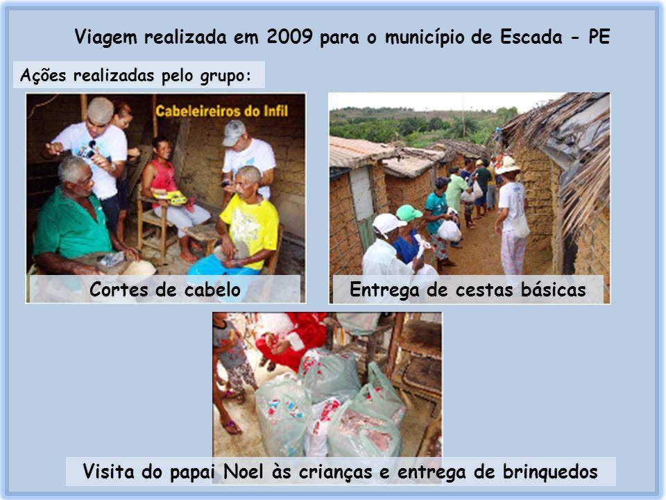 Viagem realizada em 2009 para o município de Escada - PE