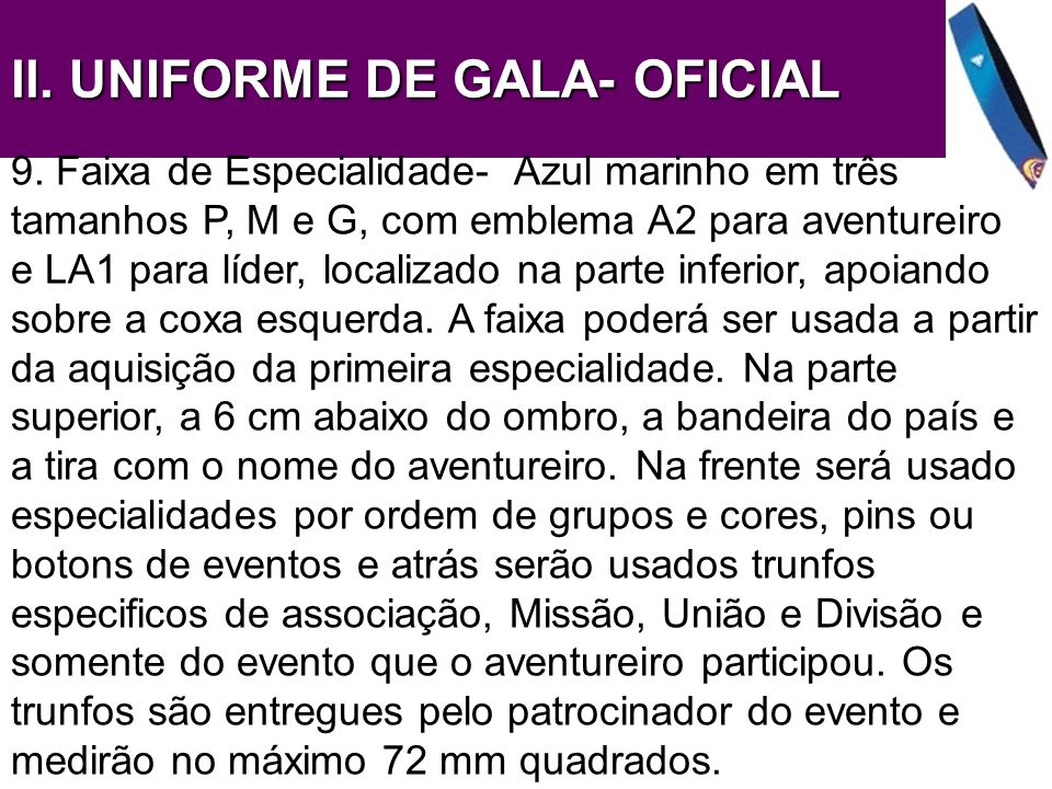 ll. UNIFORME DE GALA- OFICIAL
